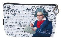 Kozmetikai táska 19x2,5x13cm, polyester,Beethoven