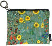 Mini pénztárca, polyester,12x1,5x10cm Klimt:Kert napraforgókkal
