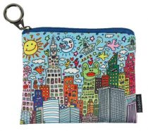 Mini pénztárca, polyester,12x1,5x10cm,James Rizzi:My New York City