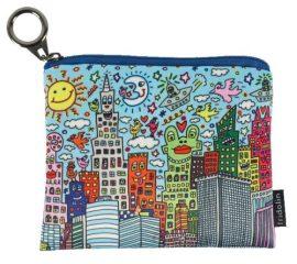 FRI.19267 Mini pénztárca, polyester,12x1,5x10cm,James Rizzi:My New York City