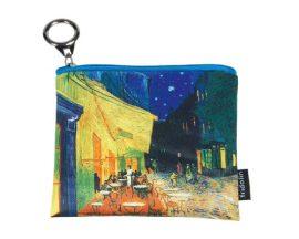 Mini pénztárca, polyester, 12x1,5x10cm,Van Gogh:Kávéház éjjel