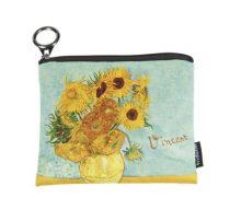 Mini pénztárca, polyester, 12x1,5x10cm, Van Gogh:Napraforgók