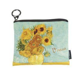 FRI.19272 Mini pénztárca, polyester, 12x1,5x10cm, Van Gogh:Napraforgók
