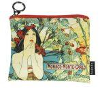 Mini pénztárca, polyester,12x1,5x10cm,Mucha:Monte Carlo