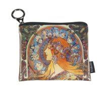 Mini pénztárca, polyester,12x1,5x10cm,Mucha:Zodiac
