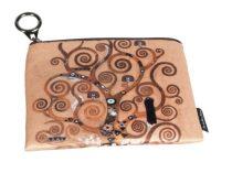 Mini pénztárca, polyester,12x1,5x10cm, Klimt:Életfa