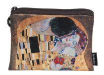 Mini pénztárca, polyester, 12x1,5x10cm, Klimt:The Kiss