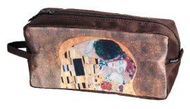 FRI.19331 Kozmetikai táska 25x12x8cm, polyester,Klimt:The kiss