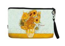 Kozmetikai táska 25x3x17cm, polyester, Van Gogh:Napraforgók