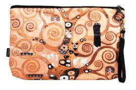 Kozmetikai táska 25x3x17cm, polyester,Klimt:Életfa