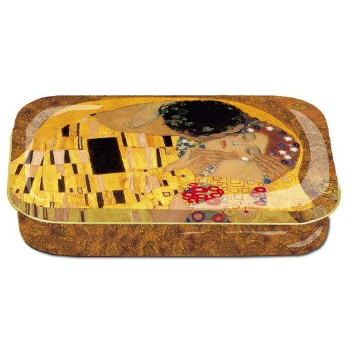 Fémdoboz 10x2x6,2cm, Klimt:The Kiss