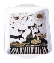 Fémtálca 21x2x14cm,Rosina Wachtmeister:Cats Sepia