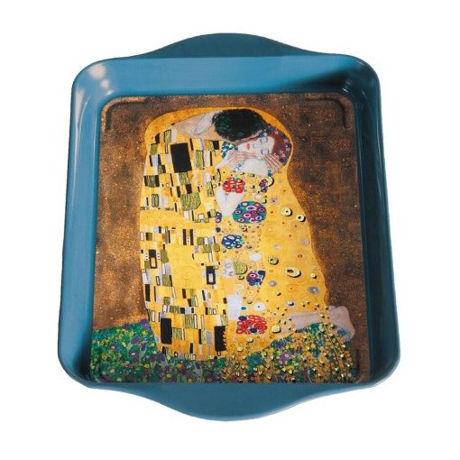 Fémtálca 21x2x14cm,Klimt:The Kiss