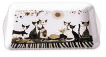 Fémtálca 32x2x19cm,Rosina Wachtmeister:Cats Sepia