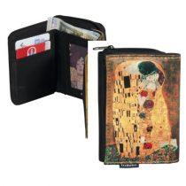 Pénztárca 9x3x12,5cm, polyester,Klimt:The Kiss