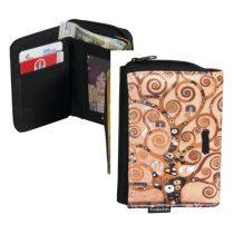 Pénztárca 9x3x12,5cm, polyester,Klimt:Életfa