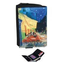 Pénztárca 9x3x12,5cm, polyestr, Van Gogh:Kávéház éjjel