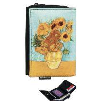 Pénztárca 9x3x12,5cm, polyester,Van Gogh:Napraforgók