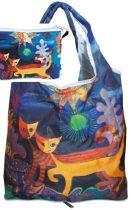 Táska a táskában,polyester,Rosina Wachmeister:Wonderland,42x48cm,összehajtva:16x13cm