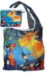 FRI.40512 Táska a táskában,polyester,Rosina Wachtmeister:Dolce Vita,42x48cm,összehajtva:16x13cm