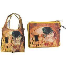 FRI.40516 Táska a táskában,polyester,Klimt:The Kiss,42x48cm,összehajtva 16x13cm