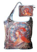 Táska a táskában,polyester,Mucha:Zodiak,42x48cm,összehajtva:16x13cm