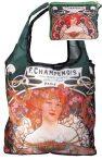FRI.40522 Táska a táskában,polyester,Mucha:Champenois,42x48cm,összehajtva:16x13<wbr> cm