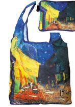 Táska a táskában,polyester,Van Gogh:Kávéház éjjel, 42x48cm,Összehajtva:16x13cm