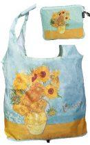Táska a táskában, polyester,42x48cm,Van Gogh:Sunflowers, összehajtva 16x13cm