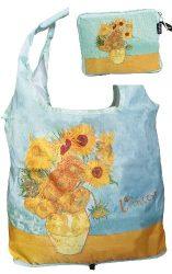 FRI.40537 Táska a táskában, polyester,42x48cm,Van Gogh:Sunflowers, összehajtva 16x13cm