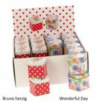 Konyhai fémdoboz 43x43x40mm, Bruno herzig/Wonderful Day
