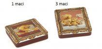 Konyhai fémdoboz 109,6x124x21,5mm, Bearsfamily