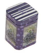 Konyhai fémdoboz 43x43x60mm Lavendel