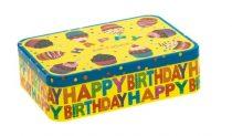 Konyhai fémdoboz 187x127x40mm,Happy Birthday