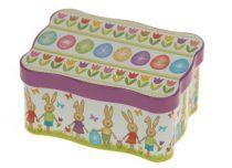 Konyhai fémdoboz 110x80x55mm, Funny Rabbits