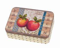 Konyhai fémdoboz 142x101x31mm, Apples