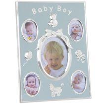 Baby Boy fém fotókeret 23x17cm