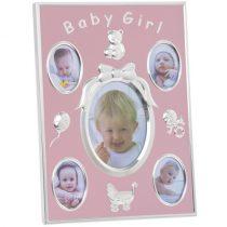 Baby Girl fém fotókeret 23x17cm