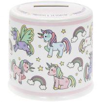 Porcelánpersely 10x10x9cm,Little Star Unicorn