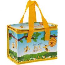 Műanyag frissentartó ételhordó táska 22x12x16cm,Bee Happy
