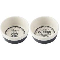 Kerámia tálkaszett 2db-os,90x40mm,Gourmet Cheese