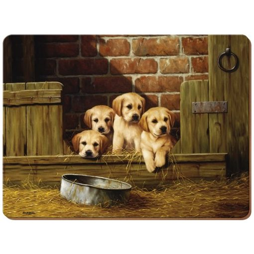 Parafa tányéralátét 4db-os 400x290x5mm,Labrador Puppies