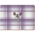 K.C.5187259 Parafa tányéralátét 4db-os 400x290x5mm,Thistle