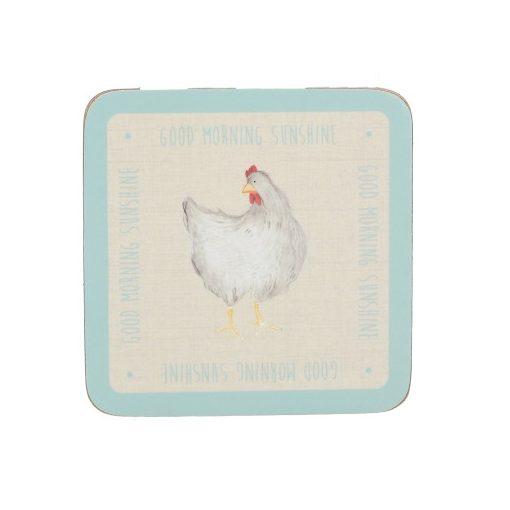 Parafa poháralátét 6db-os 105x105x5mm,Feather Lane