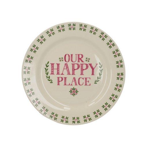 Kerámia desszerttányér 213x23x213mm,Our Happy Place,Stir it Up and Celebrate