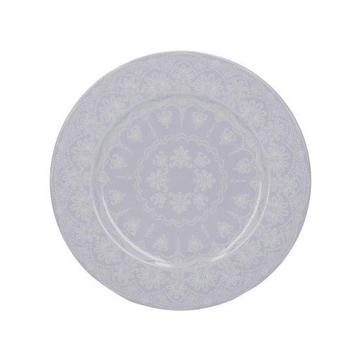 Porcelán desszerttányér 190x15x190mm,Lace,Wild Apricity, Katie Alice