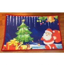 Előszoba belépő 48x70cm,télapó karácsonyfával,polyester/gumi