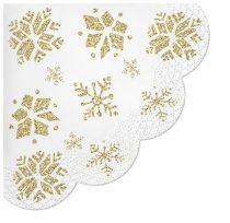 Glitter Snowflakes rondo papírszalvéta,12db-os