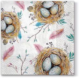 P.W.SDL099100 Easter Nest papírszalvéta 33x33cm,20db-os