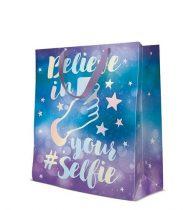 Selfie  papír ajándéktáska large 26,5x33,5x13cm